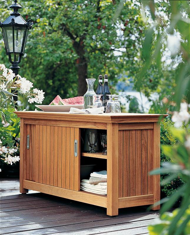 sideboard f r den garten auf. Black Bedroom Furniture Sets. Home Design Ideas