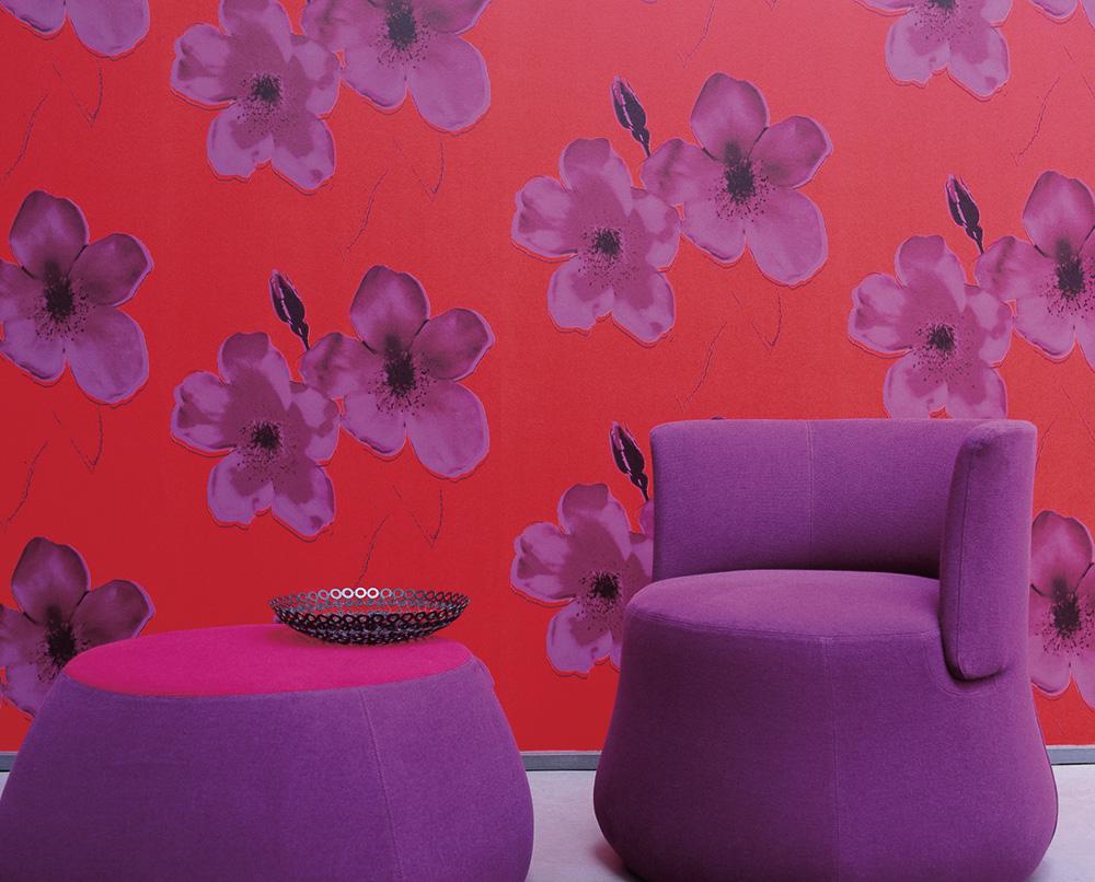 tapete exotic dandy von elitis brint farbe ins spiel auf. Black Bedroom Furniture Sets. Home Design Ideas