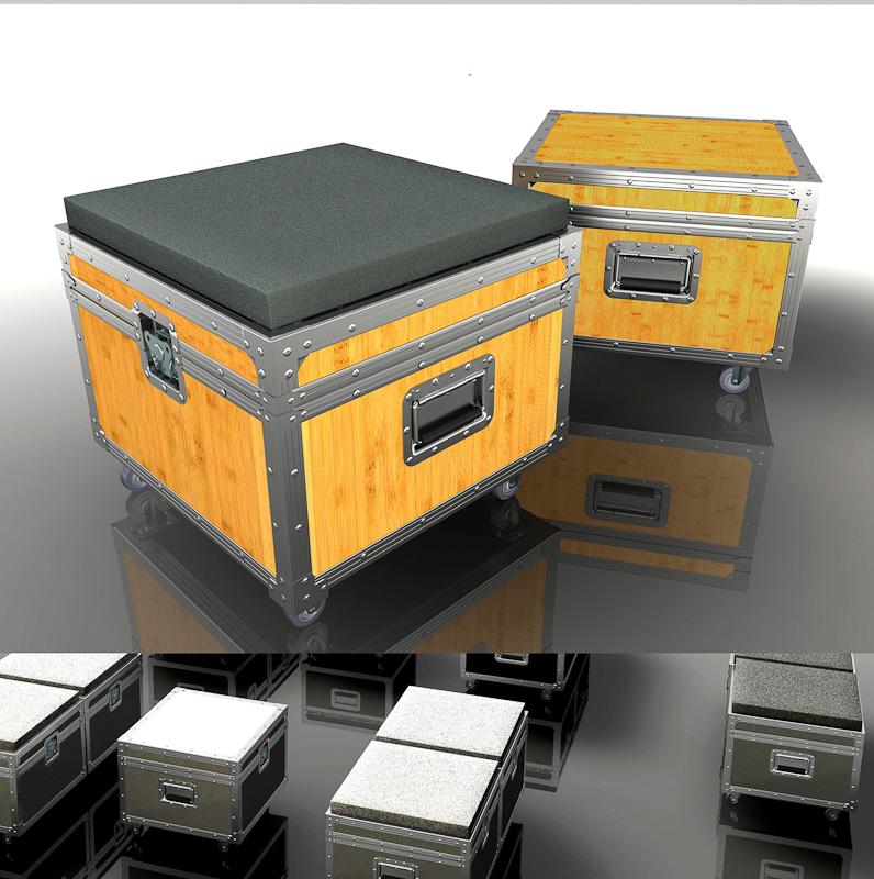 modernes flightcase von stylehiker auf. Black Bedroom Furniture Sets. Home Design Ideas
