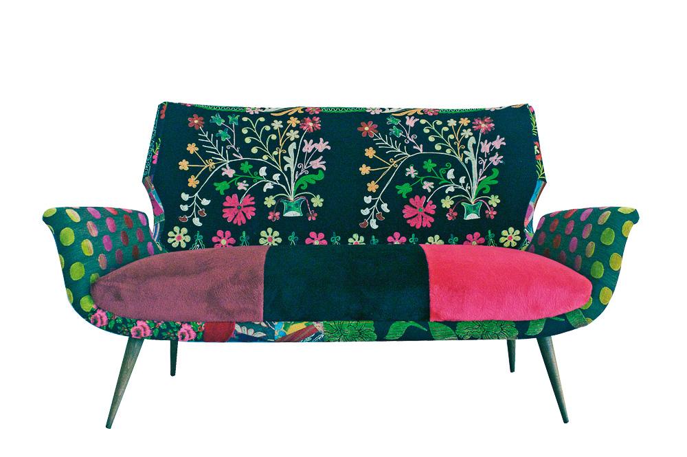 Bunte Sofas flower power sofa bokja auf deco de