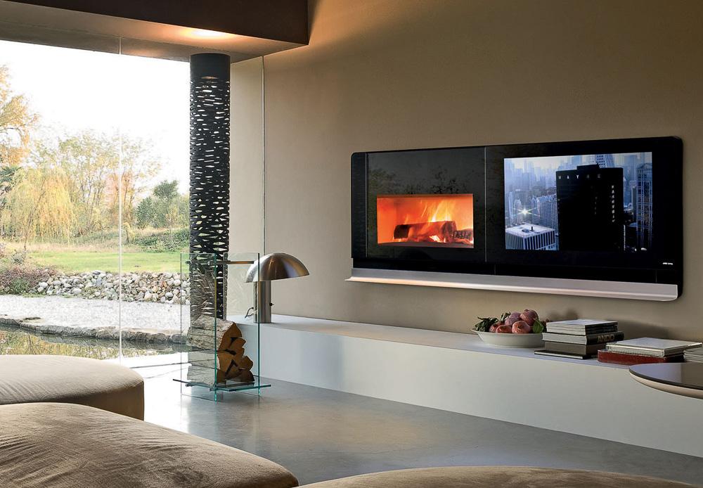 mcz zeigt ersten kamin der auch ein fernseher ist auf. Black Bedroom Furniture Sets. Home Design Ideas