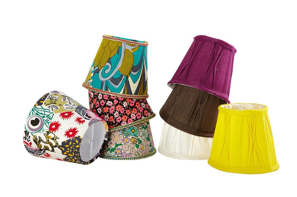 bunte mini lampenschirme von house doctor auf. Black Bedroom Furniture Sets. Home Design Ideas