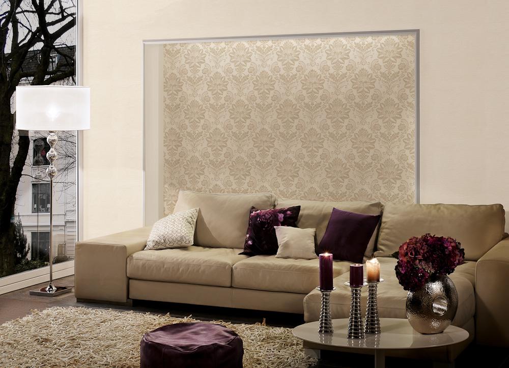 schimmernde tapete von a s cr ation auf. Black Bedroom Furniture Sets. Home Design Ideas