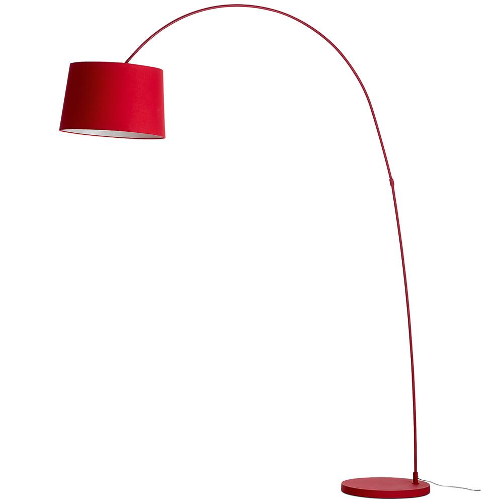 Bogenleuchte Rot Glas Pendelleuchte Modern