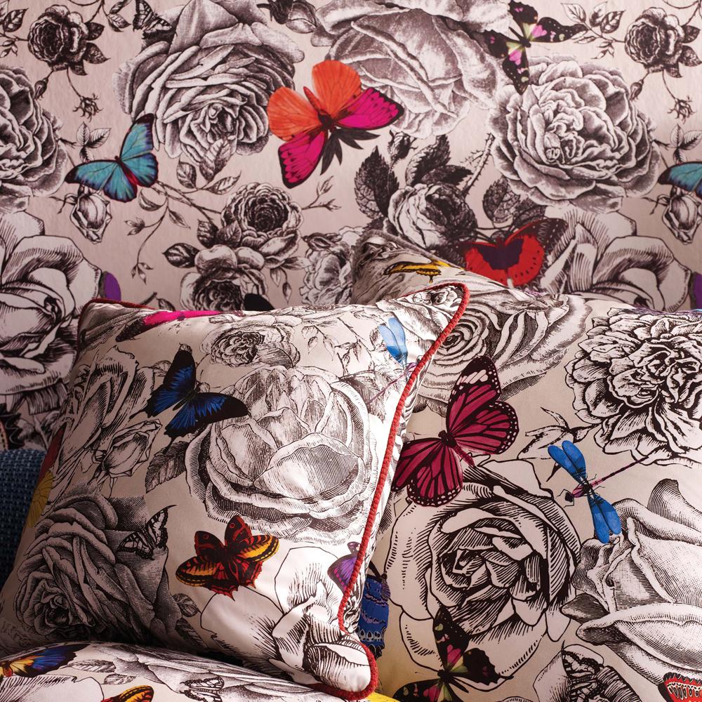 stoffe und tapete butterfly garden von osborne little auf. Black Bedroom Furniture Sets. Home Design Ideas