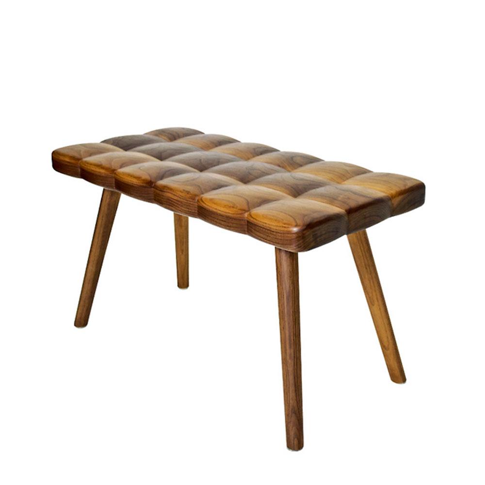 bank aus wallnussholz von derek mcleod joy charbonneau auf. Black Bedroom Furniture Sets. Home Design Ideas