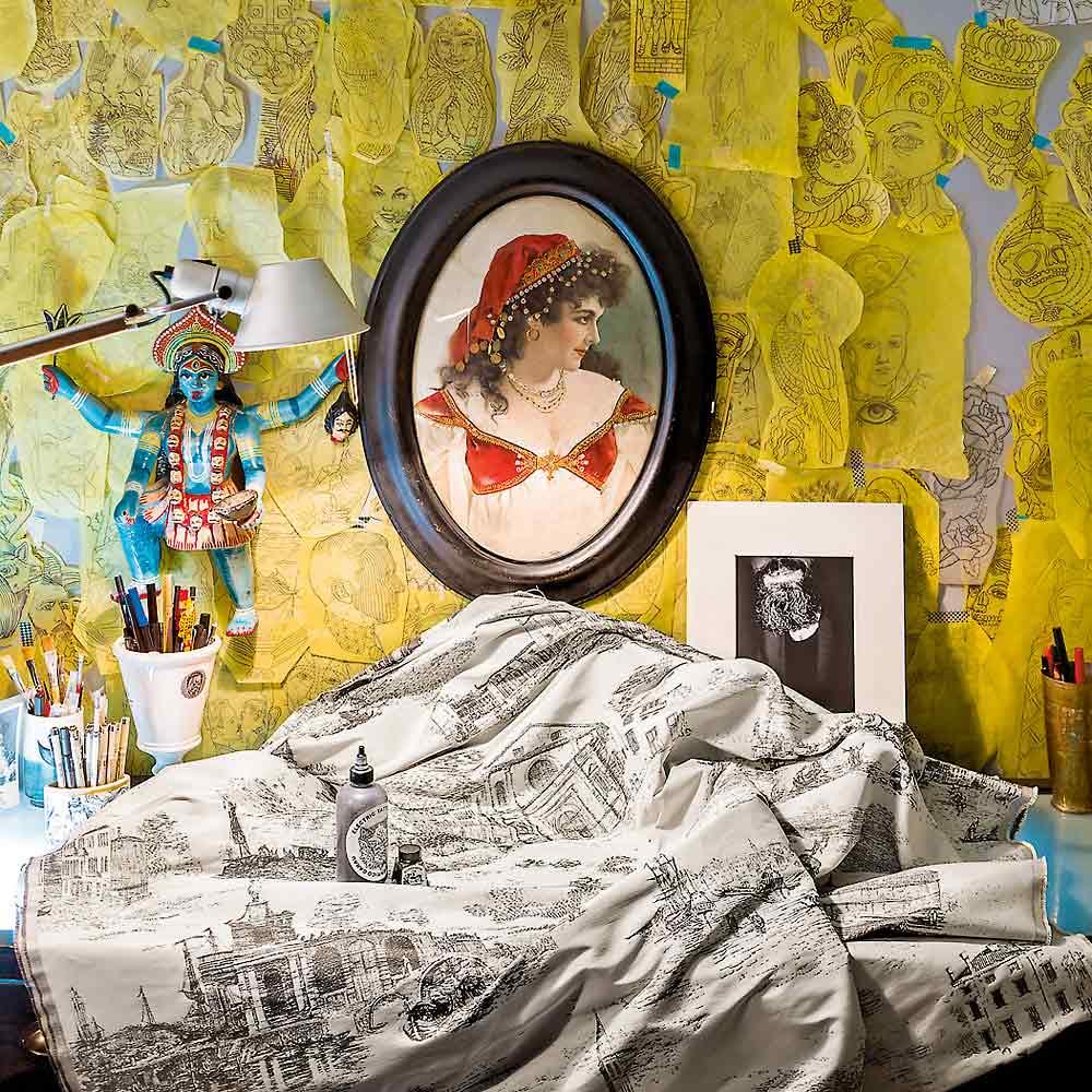 Stoff toile de venise von rubelli auf for Raumgestaltung von hoegen