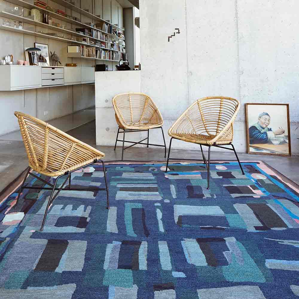 teppich blue note von reuber henning auf. Black Bedroom Furniture Sets. Home Design Ideas