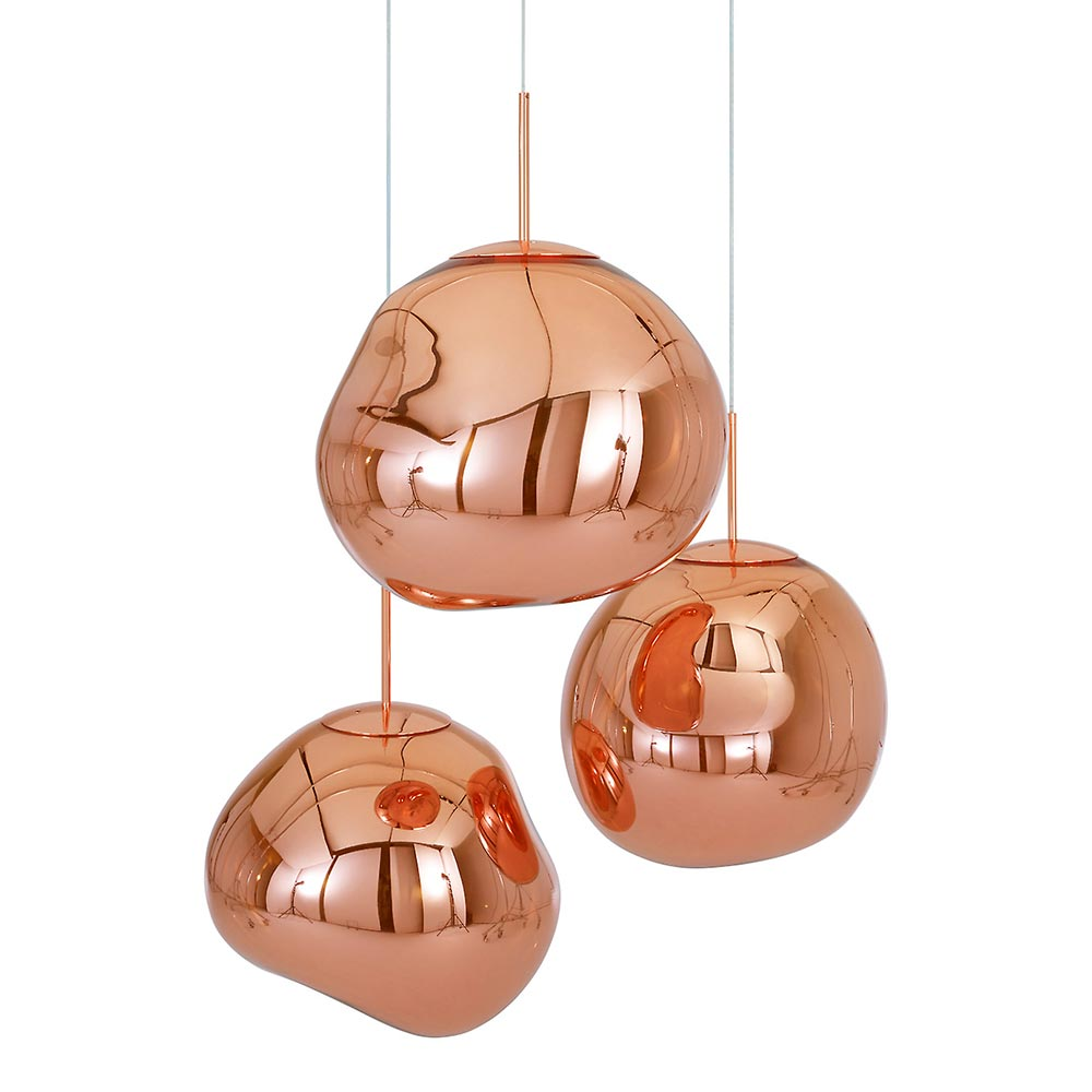 leuchte melt copper von tom dixon auf. Black Bedroom Furniture Sets. Home Design Ideas
