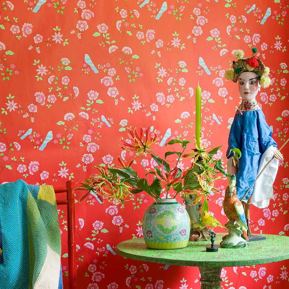 tapete winter poppies von coordonn auf. Black Bedroom Furniture Sets. Home Design Ideas