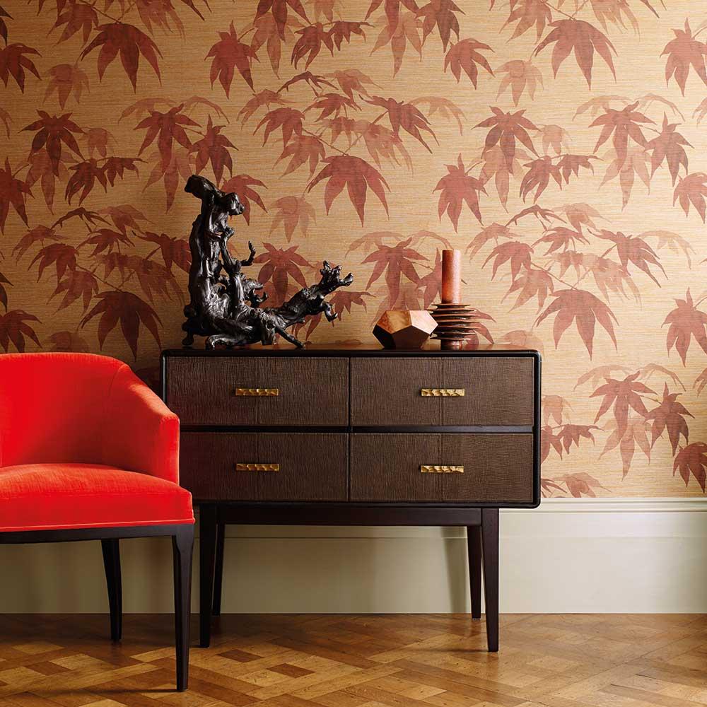 tapete acer von zoffany auf. Black Bedroom Furniture Sets. Home Design Ideas