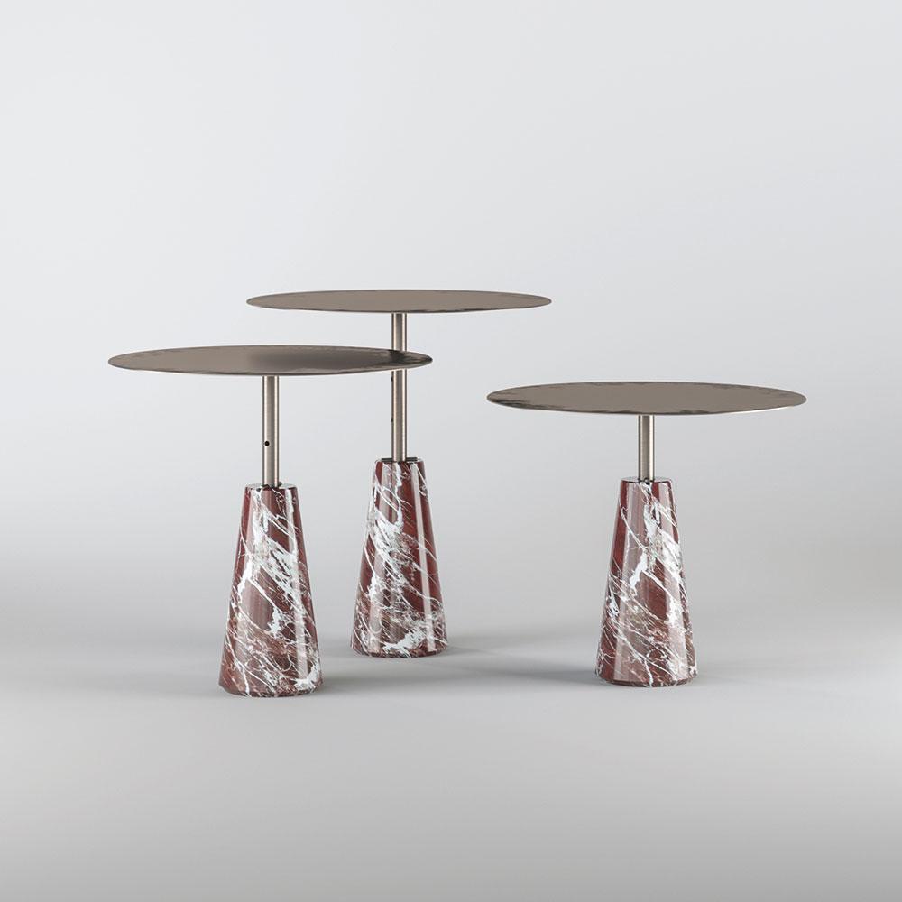 beistelltisch mit marmorfu ed004 von edizioni design auf. Black Bedroom Furniture Sets. Home Design Ideas