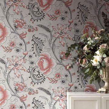 Bild von Tapete WOODBLOCK TRAIL von Little Greene