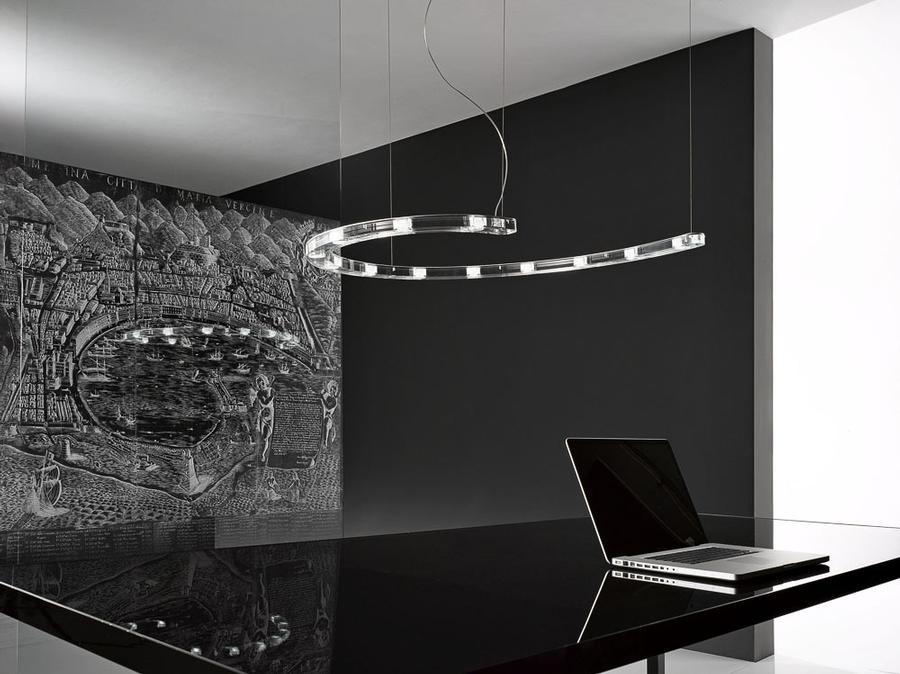 Modern glass ceiling lamp babol de majo illuminazione digsdigs