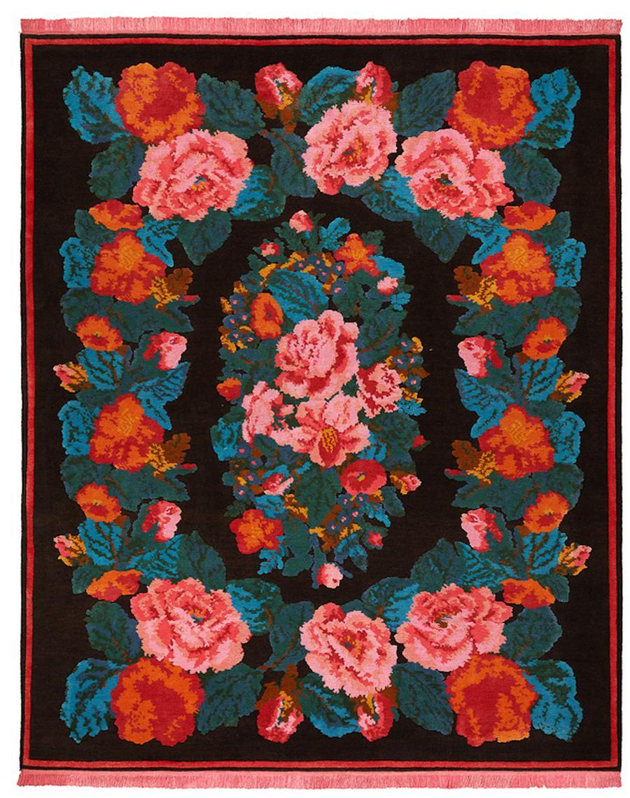 teppich rosen cool rose kelim carpet xcgzb with teppich rosen trendy vintage teppich moderner. Black Bedroom Furniture Sets. Home Design Ideas