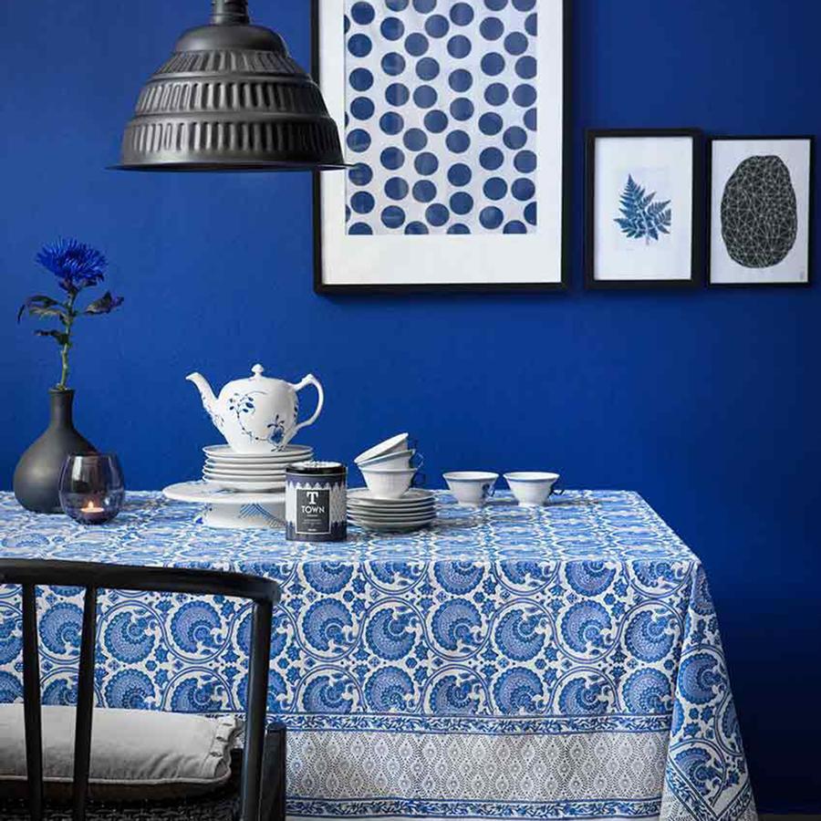 Tischdecke India Blue von Bungalow auf DECO.de