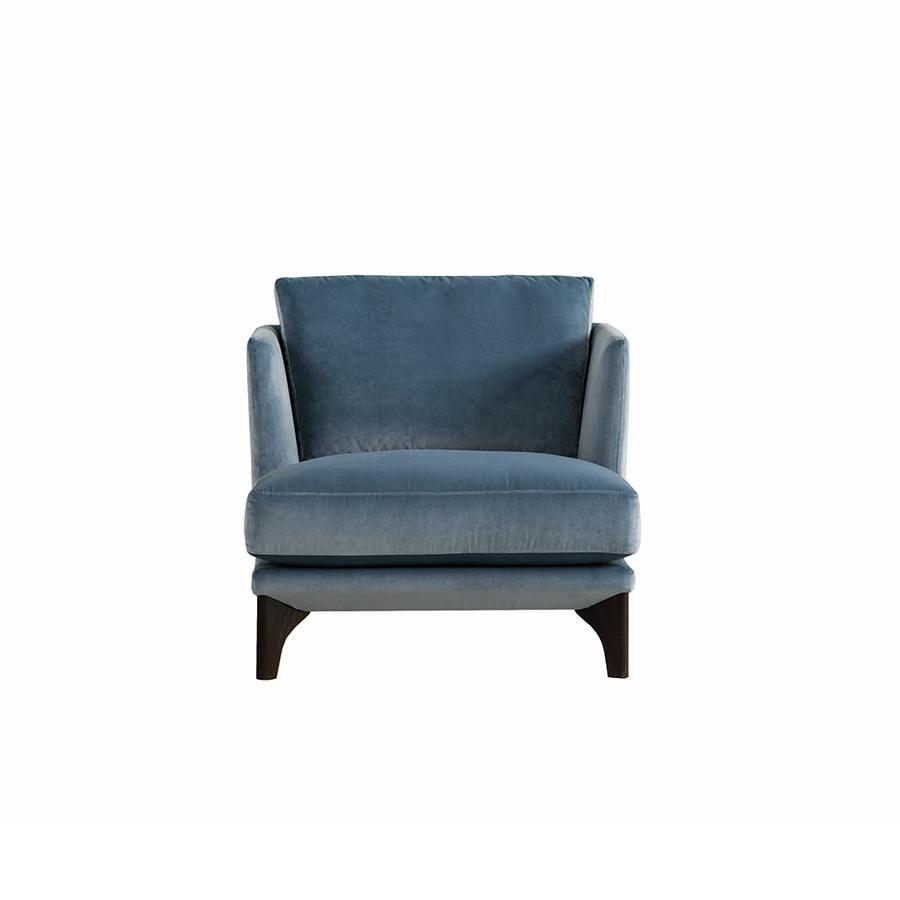 sessel polo living in blau von den bielefelder werkst tten auf. Black Bedroom Furniture Sets. Home Design Ideas
